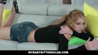 MyBabySittersClub - Horny Blonde Babysitter Fucks Older Boss porno