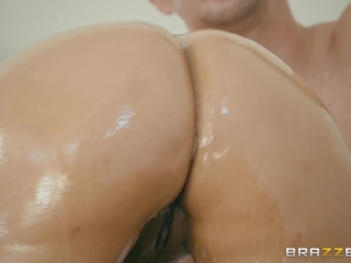Mercedes Carrera gets oiled up and ass fucked - Brazzers