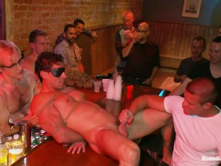 Hired Stripper Used As Horny Crowd's Sexual Object