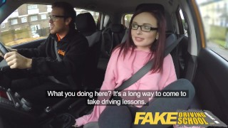 Preview 1 of Fake Driving School 19yr old petite American student creampie lesson