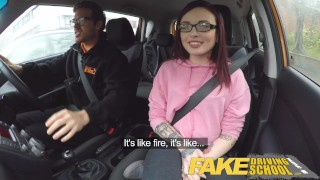 Preview 3 of Fake Driving School 19yr old petite American student creampie lesson