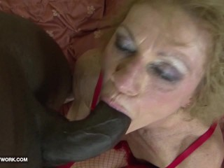 Granny likes it rough gets anal fucked and...