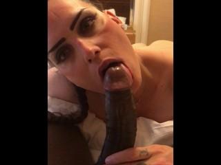 Pornstar and webcam model nikkiedickie gives raw oral...