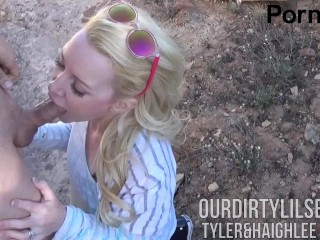 Young Couple Sneaks Off Public Trail for a quick BJ -Ourdirtylilsecret