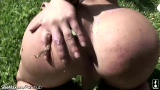 Horny shebabe stuffs her shecock in milk bottle and cumshots Small school
