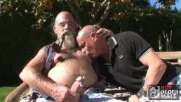 "Pig Daddy Steve ""Titpig"" Hurley Fucks Christian Mitchell in Outdoor Sling"