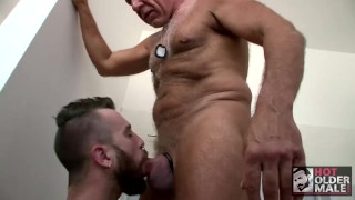 Silver's in bathroom boy rex august daddy public dirty cock takes dominick silver oral
