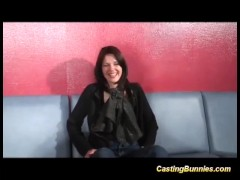 hot french Milf casting for DP