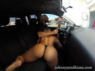 Fucking in Public Drive Threw Car Wash