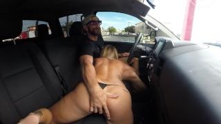 Car fucking in threw public wash drive dick cock