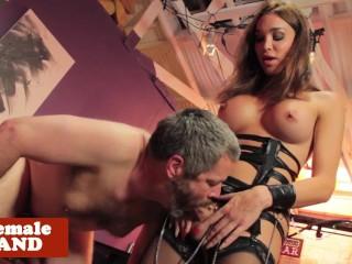 Dominated tgirl mistress makes sub suffer...