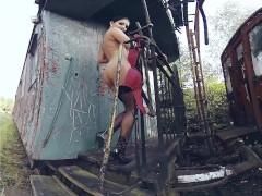 015 - Lucia Denvile - Latex strip - 3DVR360 video content Bravo Models