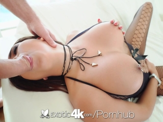 EXOTIC4K Soaking wet pussy fucked with fishnet busty Aaliyah Hadid