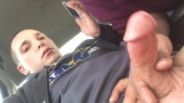 Straight guy shoots cum on my face