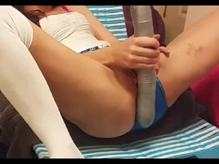Hot Amateur pussy begs to be filled, with homemade toys