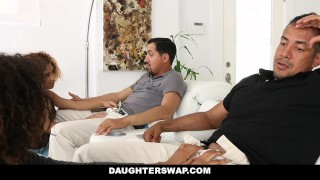 Sneaking daughters out daughterswap for fucked punished ebony king foursome