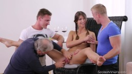 Susan Ayn having her first sex in her first threesome