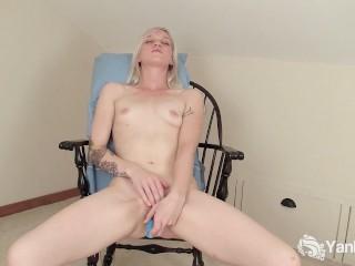 Slim Blonde Ari Fucks Her New Toys