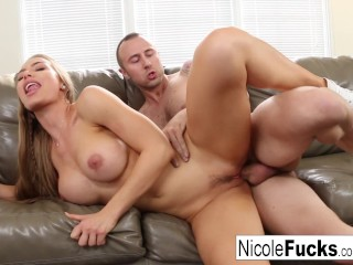 Nicole Aniston gets a good pounding from a tattooed stud