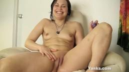 Yanks Brunette Constance Cums