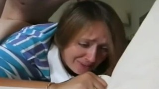 step mom crying while fucking by son