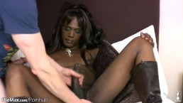 FULL video of Monster cock ebony t-babe getting ass fingered