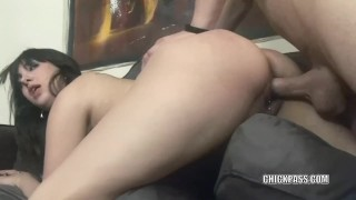 Brunette cutie Faye Tality takes some dick in her hot pussy