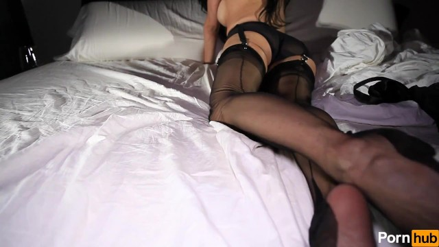 Big Tits;Brunette;Striptease;Solo Female lingerie, solo, stockings, teasing, tease, dark-haired, doll-house, pantyhose, busty, fake-tits, softcore, topless, raven