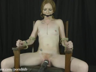 Brutal bondage double fuck