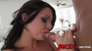 Gets kerry takes and cumshot louise fucked busty brunette big big