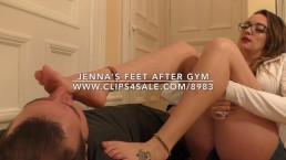 Jenna's Feet After Gym - www.c4s.com/8983/17409020