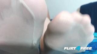 With mistress feet dominates and stockings redheaded slave fetish fetish