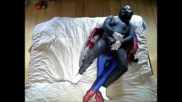 frogman with bound cock humps dummy spiderman