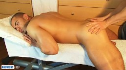 Farahd's huge cock massage ! (straight guy for a gay guy)