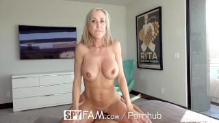 Brandi mom gamer step spyfam fucks stepson love big tit milf tits
