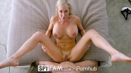 SpyFam Big tit step mom Brandi Love fucks gamer stepson