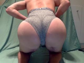 Slutboy takes Monster 12inch Dildo in tight hole