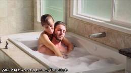 NuruMassage Stepmom Draws Bath for Son
