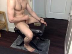 Fucking rubber pussy hard