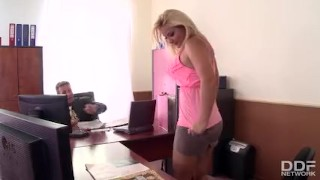 Preview 1 of Gorgeous office sluts eating pussy get caught and fucked!