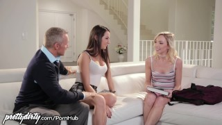 Pervy Dad Feels up Daughters Teen Friend Orgasm up