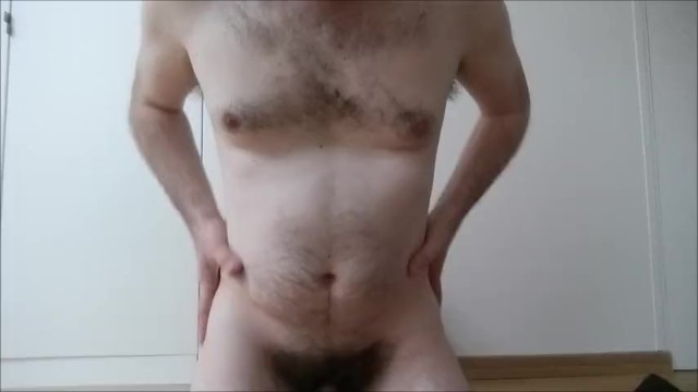 Daddys sexy girls - Sexy hairy daddy full striptease ends with precum - straight guy full monty