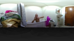 Erotic bath with Amazing teen Intimate 360 VR 4K HD