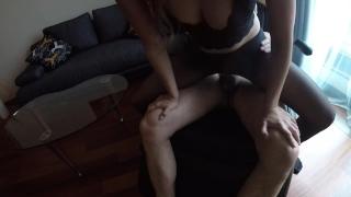 Sexy MILF Claudia fucked in pantyhose Hotel homevideo