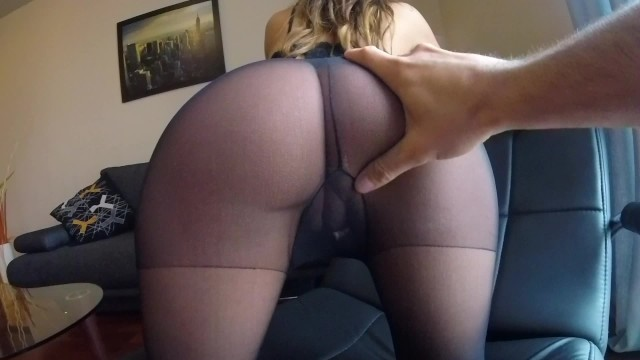 Brunette panties ass Sexy milf claudia fucked in pantyhose