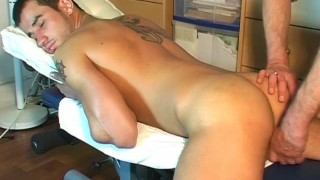 Marcelo's big cock massage ! (repair guy for a gay guy)