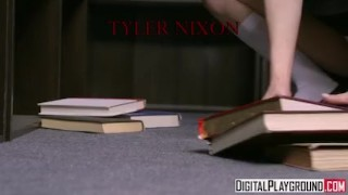 Bookworm in grace the lil teen ariel library fucks nerdy my little pussy licking