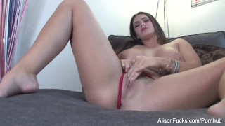 Pussy her alison plays big wet hot with tyler boobed solo busty