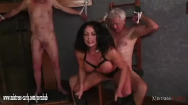 Carly boobs - Hot mistress feeds cuckold slave her hot spunky pussy after big cock fuck