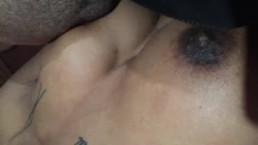 Big tittied Ebony skinny chick! Sucks and gets fucked